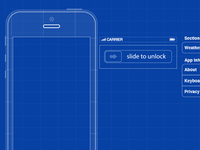 WIP iPhone5 Blueprint-style GUI