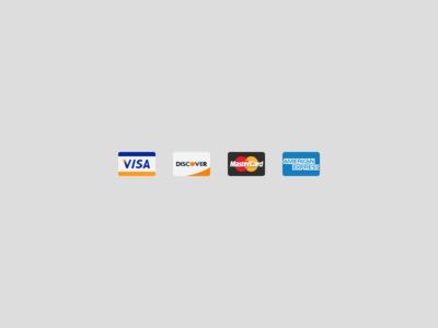 Simple credit card icons for NeonMob