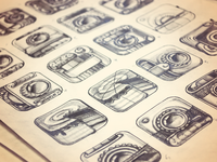 iPhone App Icon Sketches — Stage 1