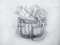 Bag icon sketch