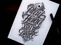 hand lettering for tshirt