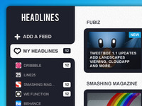 UI Design for Rss Reader app | Pokki