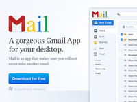 Google Mail Website UI App / Homepage / Header (Part1)