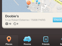 New iPhone app design | Map UI,UX interface