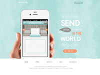 IOS iPhone App Homepage Design for Flowerly