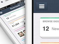 IOS, New iPhone app design | Dashboard UI,UX interface