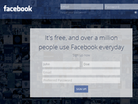 Realistic Facebook Redesign - Sign Up Page