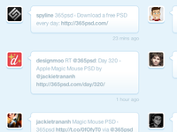 Twitter Feed of 365psd Folks