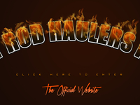 """Hot Rod Haulers Inc."" Splash Page [Fire Text Effect]"