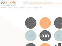 SoSimple - Client website in progress