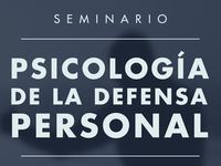 Psychology of self-defense event poster
