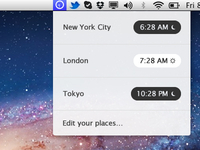 Simplest clock OSX application ever