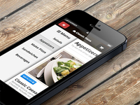 Responsive Side menu with css for iphone