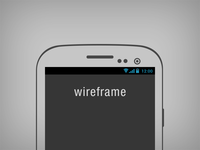 Galaxy S3 Wireframe