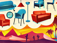 Illustration Oazen.se - furniture & interior design, banner