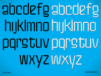 Paperfold Typeface - Digital & Photofont