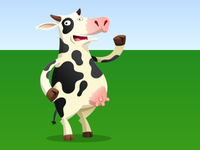 Cow character for online game