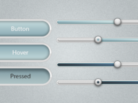 Soft Buttons and Sliders - PSD Download.
