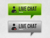 Free PSD: Live Chat Button