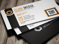 Free PSD: Flow Media Business Cards
