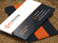 Free PSD: iPro Consulting Business Cards