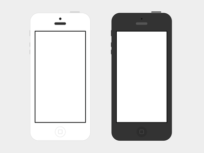 Download iPhone 5 Flat B/W PSD