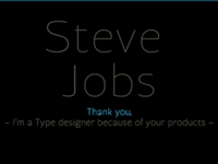 Steve Jobs, Thank you