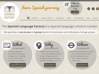 Spanish Language Factory website