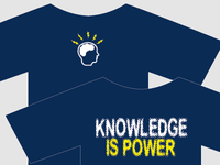 Knowledge is power tshirt design