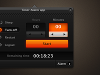 Timer Alarm App Interface
