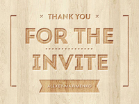 Thanks for invite