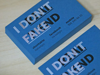 NOT FAKE – business card
