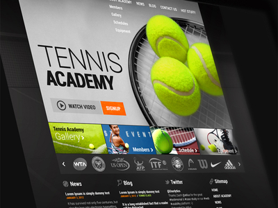 Tennis Academy Website Draft