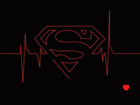 Heroes Heartbeat - Superman