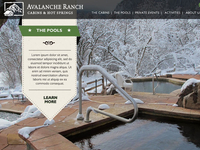 Avalanche Ranch Website Concept