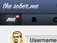 TheSober.Me Header and Nav