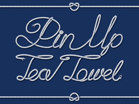 Pin Up Tea Towel