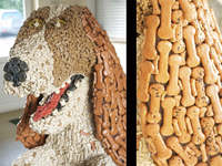 6ft Dog Biscuit Sculpture