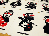 Mafia Game Card. Print
