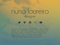 new landing page for nloureiro.com