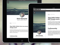 Medium.com profile for iPad