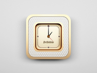 Dribbble Box Clock (c'mon rebound)