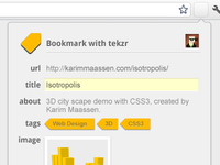 tekzr - Bookmarking tool done right