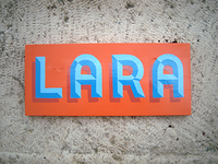 Lara Sign painting