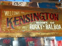 "Welcome to Kensington - Home of Rocky Balboa 40"" x 18"""