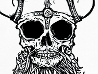 Viking skull close up