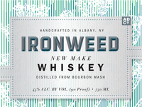 ADCo. Ironweed Whiskey label (unused)