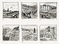 Mining and Mountains Sketches