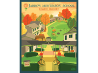 Montessori School Grounds - Finished Poster