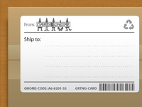 Gnome Shipping Label